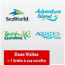 SeaWorld Parks - 2 visitas + Uma grátis - Acima de 3 anos